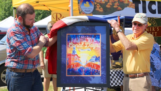 The Fairport Canal Days poster was unveiled on Saturday.