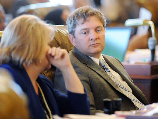 State Sen. Joey Fillingane, R-Sumrall, and Sen. Lydia Chassaniol, R-Winona, seen here talking in the Senate chamber in 2014, have used their campaign funds for expenses unrelated to their campaigns.