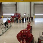 Customers tour the newly completed facility last week.