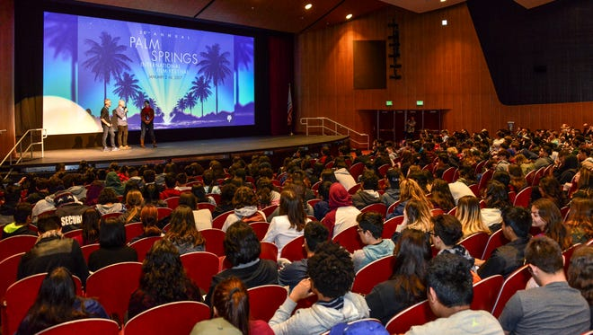 More than 700 students attended the Palm Springs International Film Festival's student screening day on Monday, Jan. 9, 2017.