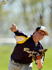 Colby Shimmel is shown here during his days pitching for Eastern York High School.