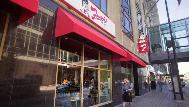 Frisch's Big Boy was doing a brisk business during their grand opening in the Carew Tower in downtown Cincinnati. You can enter off 5th street or from inside Carew. It's been 14 years since Frisch's has had a downtown location. There are new menu items for this location.