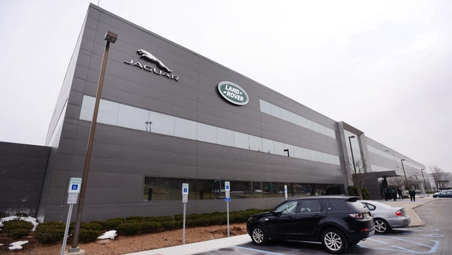 Exterior photo of Jaguar Land Rover North America Headquarters in Mahwah on/03/27/18.
