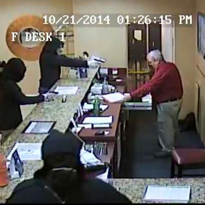 Surveillance video of the Ramada Inn robbery on Oct.
