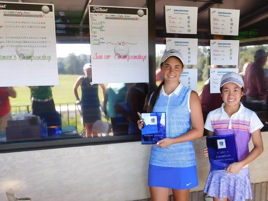 Angelina Tolentino (right), 10, of Mount Laurel won