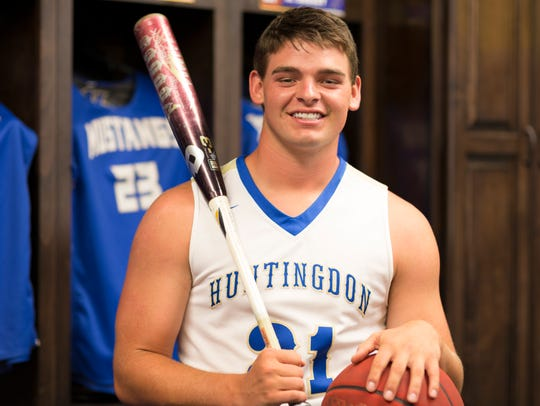 Huntingdon's Kade Pearson is the 2017-18 All-West Tennessee Male Athlete of the Year.