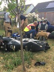 Alejandro Jacobo Gonzalez, 22, crashed his motorcycle