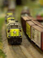 The Ozark Model Railroad Association's Spring Train Show pulls into the Springfield Expo Center on Saturday.