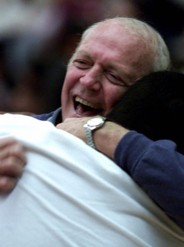"""Phoenix East was the mega-giant of Arizona high school boys basketball from 1969 to 1982, going 301-56 with five big-schools state championships, one runner-up, two semifinals and five quarterfinals teams – all under legendary coach Royce Youree. Youree saw it all through at East, since the school's inception in 1964 until the Phoenix Union district school sadly closed in '82. Who knows how many more championships Youree would have won at East if the school had never closed? """"Tradition,"""" said Youree, who helps out one of his former players, Sam Ballard, at Mesa Community College. """"Everyone wanted to keep on a great tradition. I was most proud of our relationships we had from player to player and player to coach. I really liked the way the kids were about winning and not individual stats."""""""
