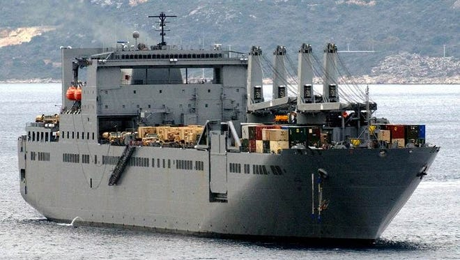 The USNS  Benavidez will be berthed in Bremerton between missions.