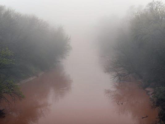 Wichita River in Fog
