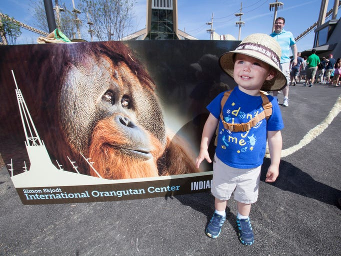 Photo booth at the opening of International Orangutan Center.