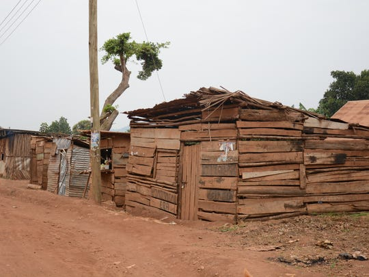 This is a neighborhood outside of the Ugandan capital of Kampala, where psychologist Angie Vredeveld first worked with acid attack survivors.