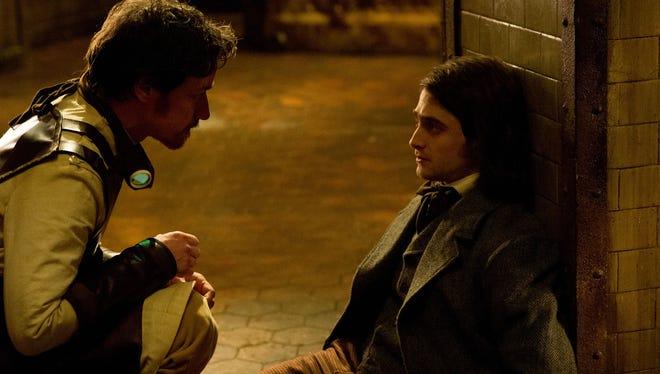 """James McAvoy and Daniel Radcliffe in """"Victor Frankenstein."""""""
