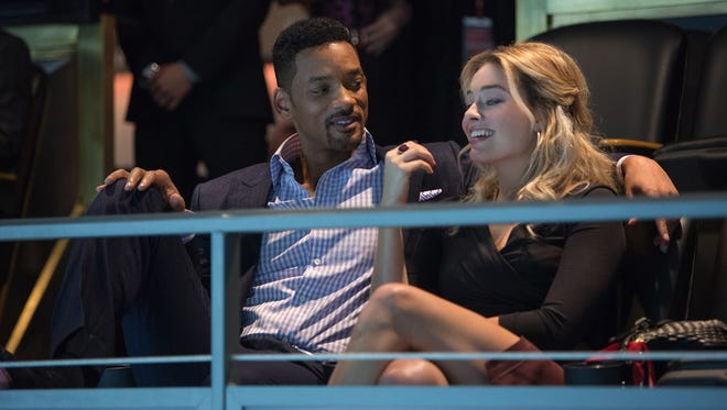 """Will Smith and Margot Robbie star as con artists out for a fabulous Super Bowl score in  """"Focus."""""""