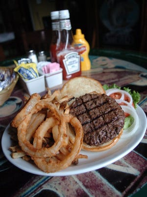 A hamburger from Litton's restaurant in Fountain City.