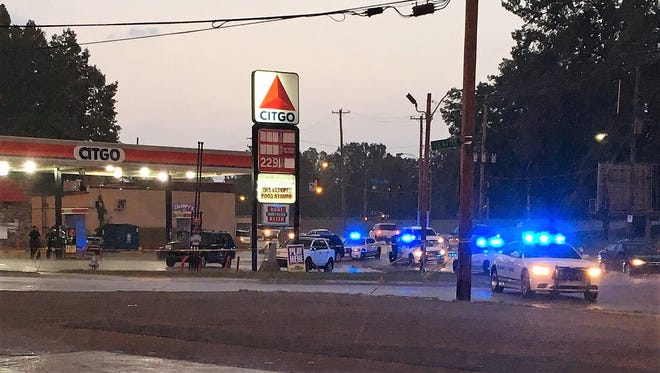 Two people were shot Tuesday afternoon in the 1700 block of Lamar Avenue