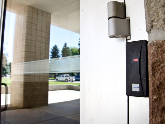 Visitors to Dell Rapids High School can open the first