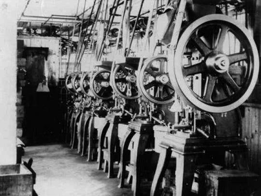 Machinery at the Peters Cartridge Co. factory in Kings Mills.