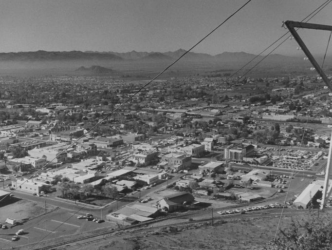A picture of Tempe taken in 1968.