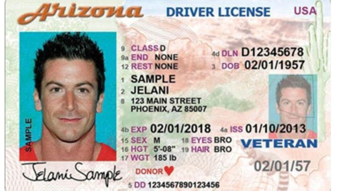 "Starting in 2016, your Arizona driver's license won't get you through the security checkpoint at the airport or into federal buildings that require a so-called ""Real ID."""
