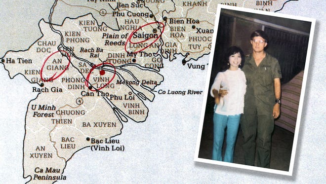 Jim Reischl poses with then-girlfriend Kim Hoa during his tour of duty in Vietnam. Jim plans to see Kim in January for the first time in about 46 years.
