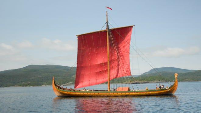 The Draken Harald Harfagre, the oldest Viking ship built in modern times.