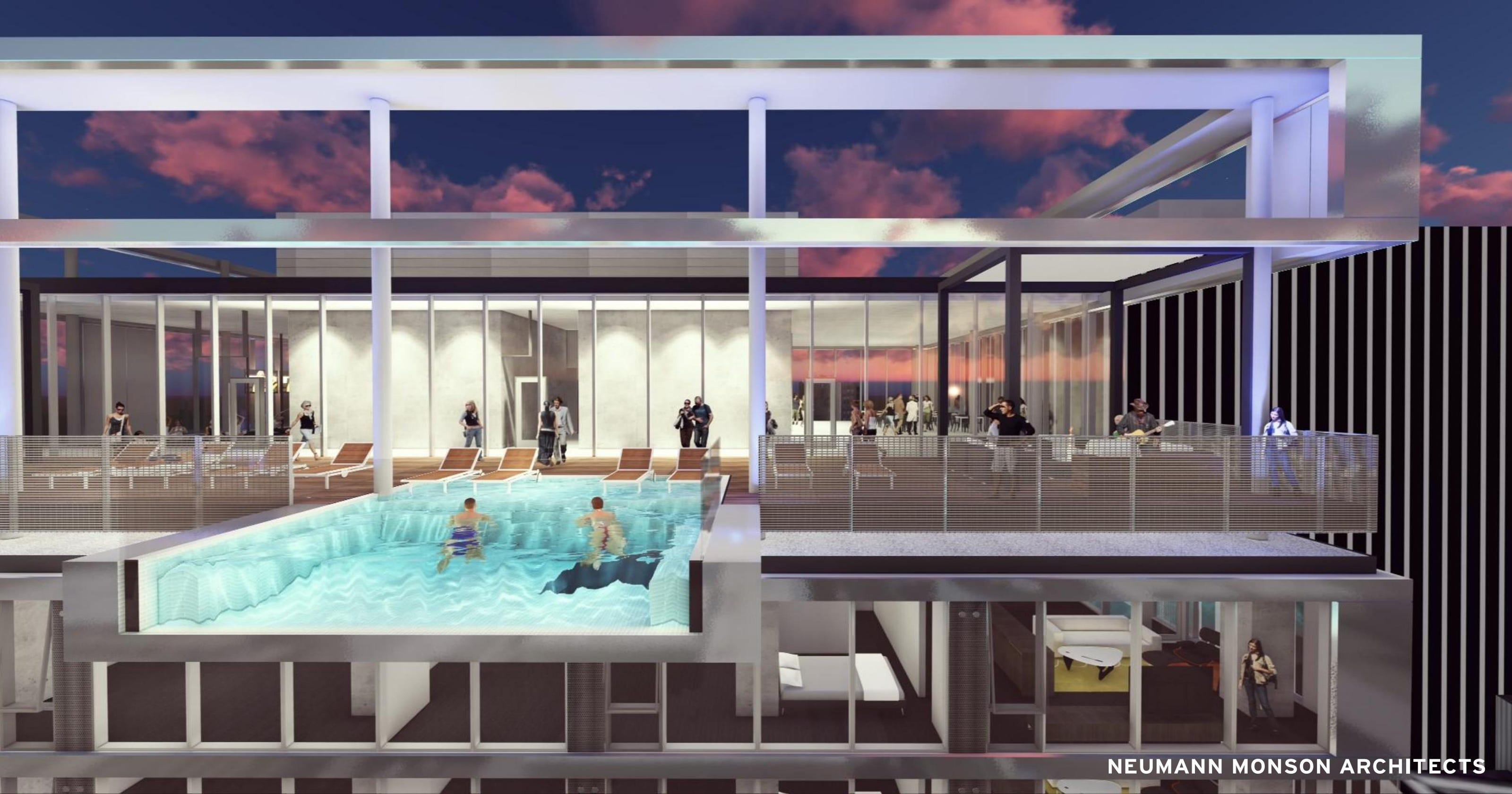 Hanging Rooftop Pool Will Let You Look 26 Stories Down