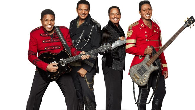 The Jacksons, from left: Tito Jackson, Jackie Jackson, Marlon Jackson, Jermaine Jackson