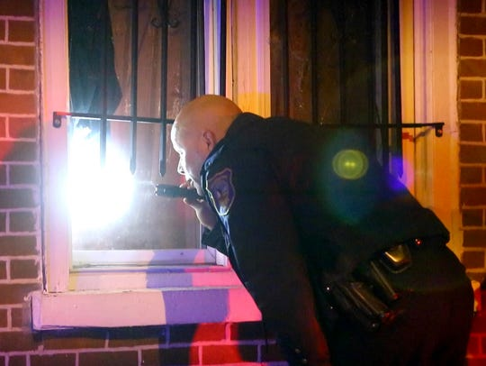 Wilmington Police investigate a shooting in the 1200 block of W. Third Street Sunday night.