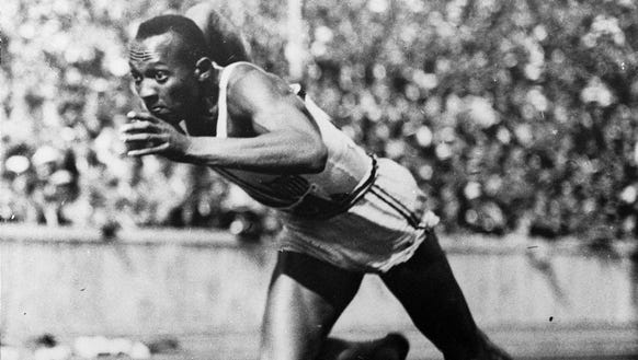 Jesse Owens ran on cinders, which expend much more