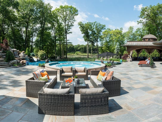 Franklin Lakes backyard designed by Terracare Landscaping