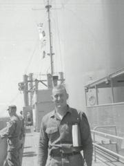 Douglas MacArthur McCrary, on a ship on his way to