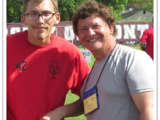 Coach Denny Hogan, right, has been helping Special Olympics Montana for nearly 30 years. The longtime teacher at Riverview Elementary was recently named Special Olympics Montana Coach of the Year.