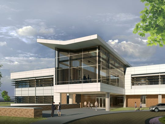 An architectural drawing shows Menasha Corp.'s new