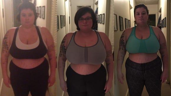 Three month progression since starting CrossFit.