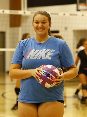 Megan Priest, a sophomore on the Mosinee volleyball team, was diagnoised with thyroid cancer earlier this summer.
