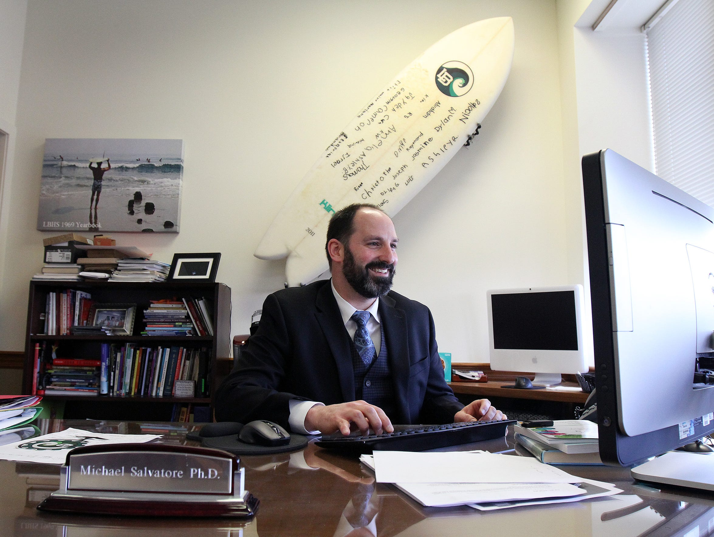 Long Branch superintendent Michael Salvatore speaks