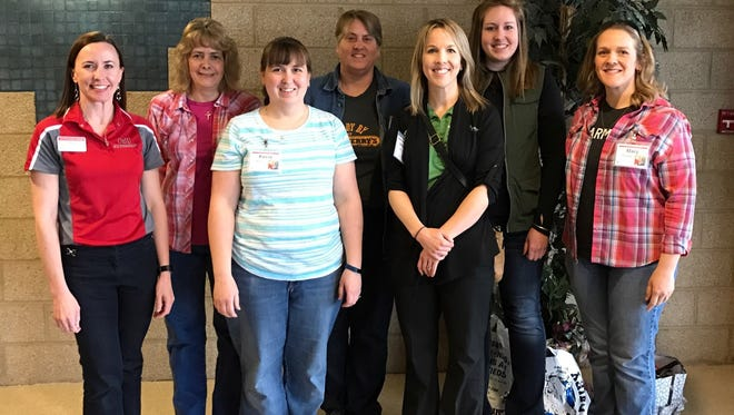 Emily Adams, Cathy Williamson, Kecia Buxton, Mary Wright, Jen Croft, Kayla Finton and Mary Thomas of Coshocton County recently attended the East Ohio Women in Agriculture Conference