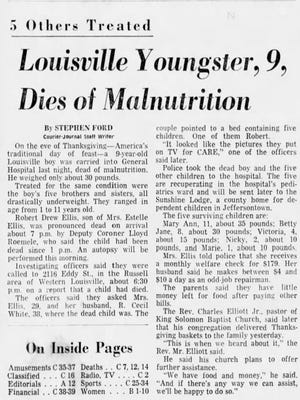 Front-page story from Nov. 27, 1969, Courier-Journal.