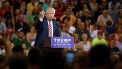 Donald Trump speaks in Ohio on June 28, 2016.