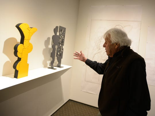 """Artist Mel Katz explains how maquettes — scale models — are part of his process of creating large-scale sculptures that reach roughly 8 to 9 feet tall. A 50-year major retrospective called """"Mel Katz: On and Off the Wall"""" will be on exhibit at the Hallie Ford Museum of Art through June 6-Aug. 23."""