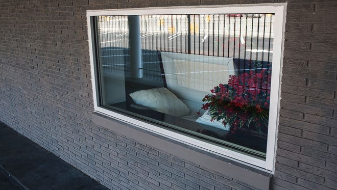 The drive-thru is a convenience for those who have difficulty getting out of their cars, said Ryan Bernard, owner of R. Bernard Funeral Services in Memphis. The funeral home is located in an old bank building.