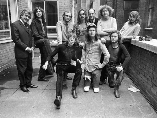 """The staff of """"Melody Maker"""" magazine in 1971"""