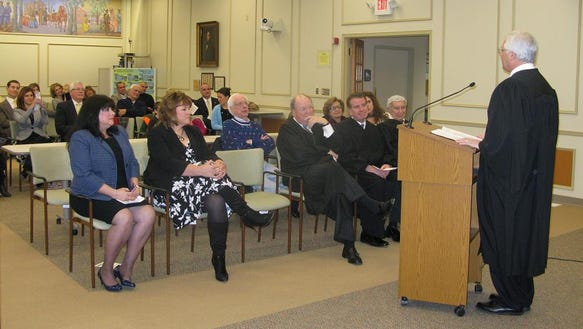 penfield Swearing-in-audience