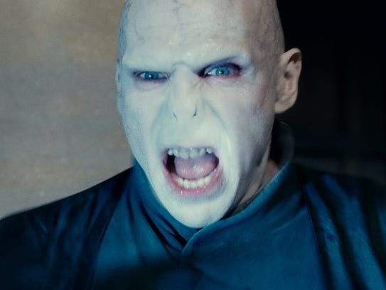 Ralph Fiennes as Lord Voldemort in a scene from the