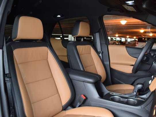 Chevy Equinox front seats.