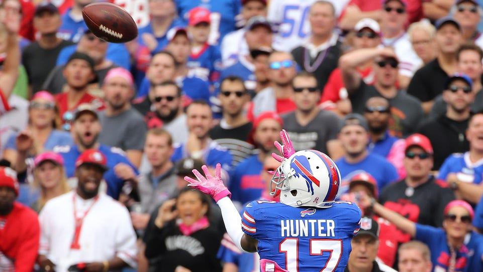 Bills receiver Justin Hunter catches this 30-yard pass