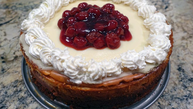 FILE PHOTO: This is a State fair winning recipes, cheesecake. Cheesecake: Cheery Cherry Cheesecake features cherry concentrate, chopped cherries and cherry pie filling. Not offered at Sendiks.