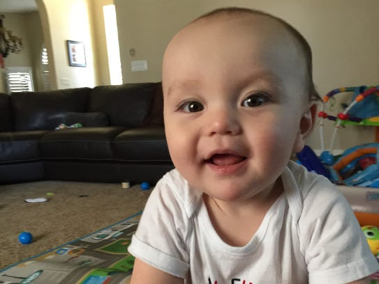 Cole Hansberger's mother calls her 1-year-old rambunctious